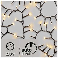 LED Christmas Chain - Hedgehog, Outdoor, 12m, Warm White, Timer - Christmas Lights