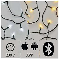 Application Controlled LED Christmas Chain, 15m, Outdoor, Cold/Warm White - Christmas Lights