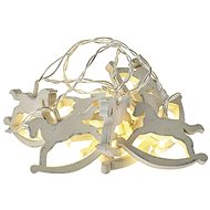 LED Christmas Garland - Horses, 2x AA, Warm White, Timer - Christmas Lights