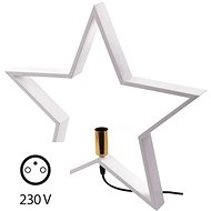 Candle Holder for Light Bulb E14 White, Star, 48cm, Inside