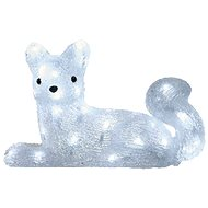 LED Christmas Fox, 32cm, Outdoor, Cold White, Timer - Christmas Lights