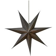 LED Christmas Star Paper Silver, 75cm, 2x AA, Warm White