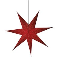 LED Christmas Star Paper Red, 75cm, 2x AA, Warm White