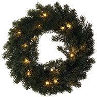 LED Christmas Wreath, 40cm, 2x AA, Indoor, Warm White - Christmas Lights
