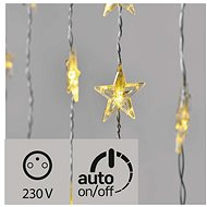 LED Christmas Curtain - Stars, 120 x 90cm, Outdoor, Warm White, Timer