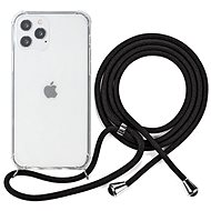 Epico Nake String Case iPhone 12/12 Pro Transparent White/Black - Mobile Case