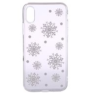 Epico White Snowflakes for iPhone X / iPhone XS - Mobile Case