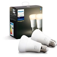 Philips Hue White 9.5W E27 2 piece set - LED bulb