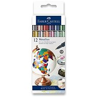 Faber-Castell in Metallic Colours, 12 colours - Marker