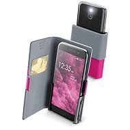 Cellularline Slide & Click XXXL with Hinged Top of PU Leather, Pink - Mobile Phone Case