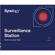 Synology NAS 4 Licenses for Additional IP Cameras for Surveillance Station - Licence