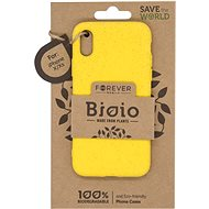 Forever Bioio for iPhone X/XS, Yellow - Mobile Case