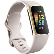 Fitbit Charge 5 Lunar White/Soft Gold Stainless-Steel - Fitness Tracker