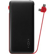 FIXED Zen with microUSB/USB-C Cable, 10000mAh, Black - Powerbank