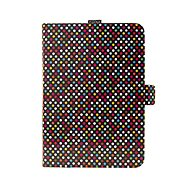 FIXED Novel with Stand and Pocket for Stylus PU Leather Rainbow Dots Motif - Tablet Case