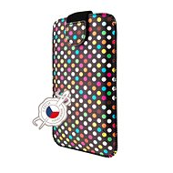 FIXED Soft Slim with PU Closure, PU Leather, 4XL Size + Rainbow Dots - Case for mobile phone