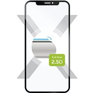 FIXED Full Glue-Cover for Nokia 9 Pureview, black - Glass protector