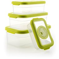 G21 Box, Plastic Green Set of 4 pcs - Food Container Set