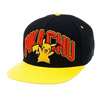 Pikachu Black Snapback Pokemon With Yellow peak - Cap