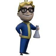 Fallout Vault Boy 3D - Science - Keychain - Charm