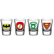 DC Comics - Shot Glass (4x) - Glass for Cold Drinks