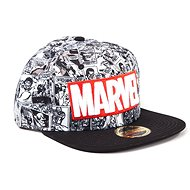 Marvel Classic Red and White Logo - Cap