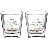 Game of Thrones - All Men Must Die - 2x Glasses - Whisky Glasses