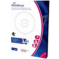 MediaRange CD/DVD/Blu-ray Labels 41mm - 118mm white - Sticker