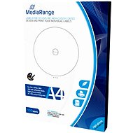 MediaRange CD/DVD/Blu-ray Labels 15mm - 118mm white, highly glossy - Sticker