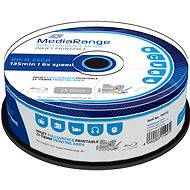 MediaRange BD-R (HTL) 25GB, Inkjet Printable, 25pcs cakebox - Media