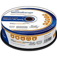 MediaRange DVD+R Inkjet Full Surface Printable 25pcs cakebox - Media