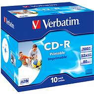 Verbatim CD-R Printable AZO 52x, 10 pack - Media