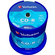 Media Verbatim CD-R 52x DataLife Protection, 100 Pack Spindle - Média