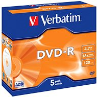 Verbatim DVD-R 16x, 5pcs in Jewel Cases - Media