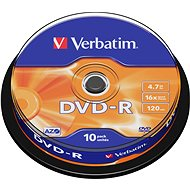Verbatim DVD-R 16x, 10pcs cakebox - Media