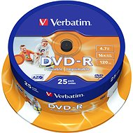 Verbatim DVD-R 16x, Printable 25pcs cakebox - Media