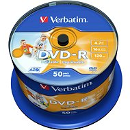 Verbatim DVD-R 16x, Printable 50pcs cakebox