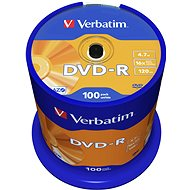 DVD-R Verbatim 4,7GB 16x, 100pcs cakebox - Media