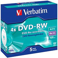 Verbatim DVD-RW 4x Write Speed, 5pcs per box - Media