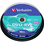 Verbatim DVD-RW 4x, 10 piece cakebox