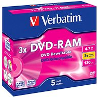 Verbatim DVD-RAM 3x Speed, 5pcs per box - Media