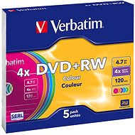 Verbatim DVD+RW 4x, COLOURS 5pcs in SLIM box - Media