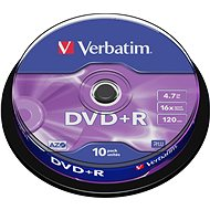 Verbatim DVD+R 16x, 10pcs cakebox