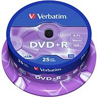 Verbatim DVD+R 16x, 25 piece cakebox - Media