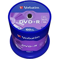 Verbatim DVD+R 16x, 100 piece cakebox - Media