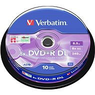 Verbatim DVD + R 8x, Dual Layer 10pcs cakebox