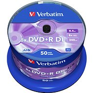 Verbatim DVD + R 8x, Dual Layer, 50pcs cakebox - Media