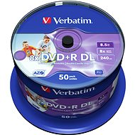 Verbatim DVD+R 8x, Dual Layer Printable 50pcs cakebox - Media