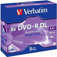 Verbatim DVD+R 8x, Double Layer 5pcs in box - Media