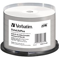 VERBATIM DVD-R 4.7GB 16x WIDE GLOSSY WATERPROOF PRINT. No ID spindl 50pck - Media